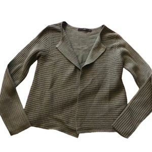 Peruvian connection Sage green cardigan sweater